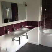 Ensuite Modern Bathroom - Redroofs Bed and Breakfast Tenbury Wells